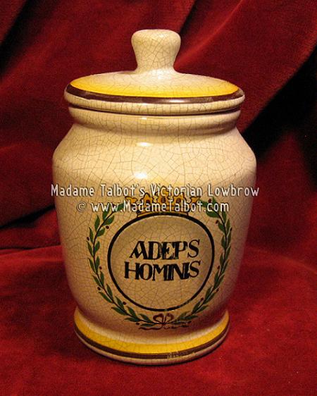 Adeps Hominis Apothecary Jar