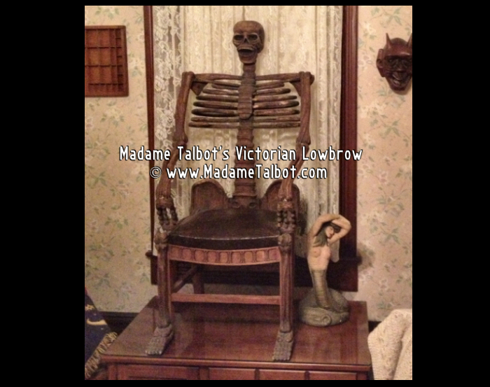 1930s Carved Skeleton Chair