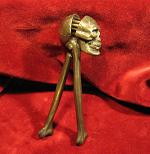 Antique Cast Iron Skull and Bones Nut Cracker