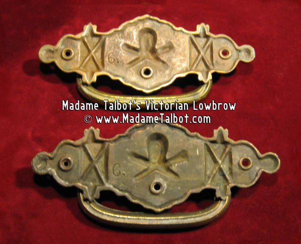 Victorian Era Skull and Crossbones Coffin Handles