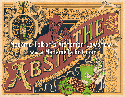 Madame Talbot's Victorian Lowbrow Pen-and-Ink Posters and Prints