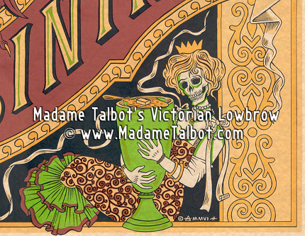 Victorian Lowbrow Absinthe Devil Poster