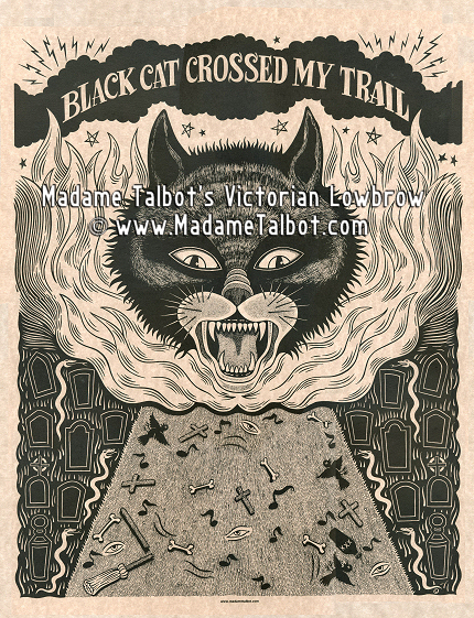 Black Cat Delta Blues Poster
