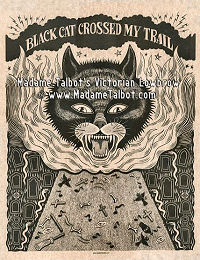 Southern Gothic Black Cat Dark Art Blues Poster