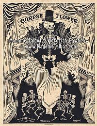 Corpse Flower Skeleton Poster