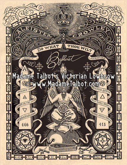 Aleister Crowley Baphomet Occult Poster