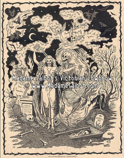 Danse Macabre Graveyard Poster