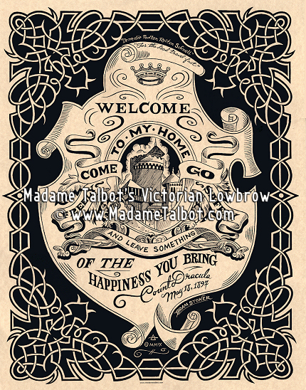 Madame talbots victorian lowbrow draculas vampire greeting poster count draculas vampire greeting poster m4hsunfo