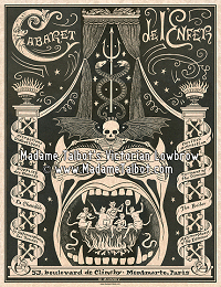 Paris Cabaret de L'Enfer Glow in the Dark Poster