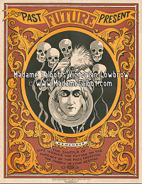 Fortune Teller Floating Skull Mind Reading Poster