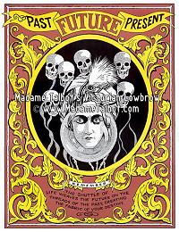 Fortune Teller Floating Skull Mind Reading Poster