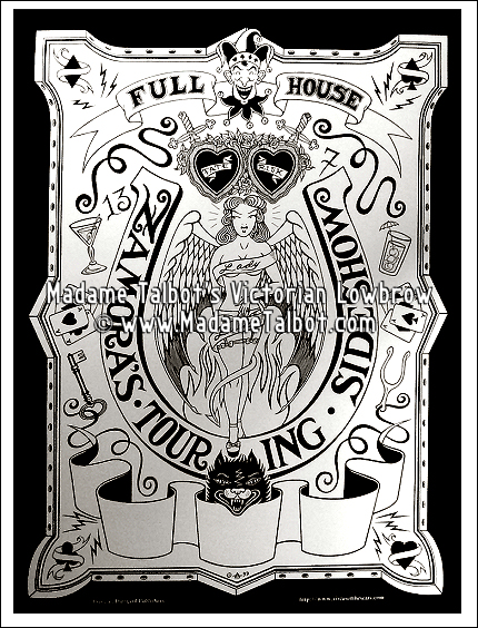 Zamora's Full House Sideshow Tour Poster