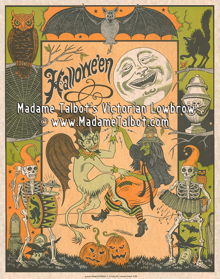 a victorian old fashioned halloween poster - Old Fashion Halloween