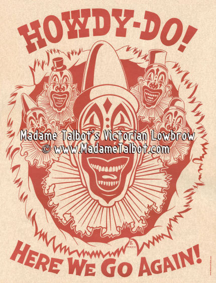Howdy Do Clown Poster