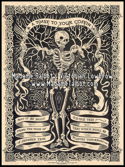 Victorian Lowbrow Irish Coffin Toast Poster