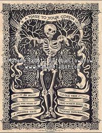 Victorian Lowbrow Irish Coffin Toast Poster