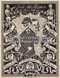 Victorian London Jack the Ripper Skeleton Devil Dark Art Goth Poster