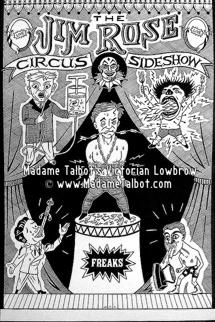 Jim Rose Circus Sideshow Original Classic Poster