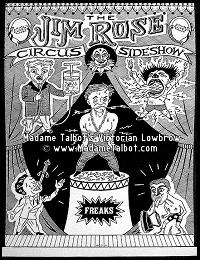 Jim Rose Circus Sideshow Classic Poster