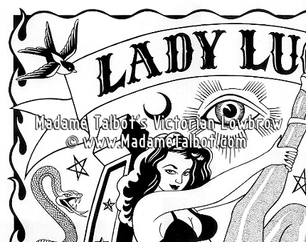 Lady Luck Gambling and Luck Lowbrow Poster