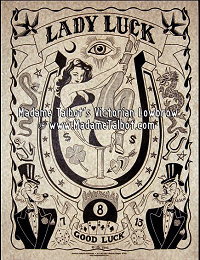 Lady Luck Parchment Poster