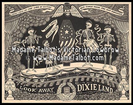 Victorian Lincoln's Ghost Train Dark Art Goth Poster