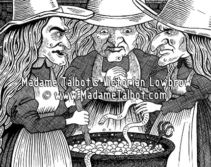three witches and macbeth The three witches do however, with one very simple phrase, thou shalt be king hereafter, start a chain of events that ends horribly for just about all involved.