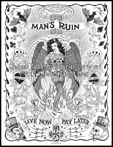 Mans Ruin Poster