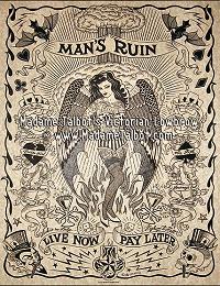 Man's Ruin Parchment Poster