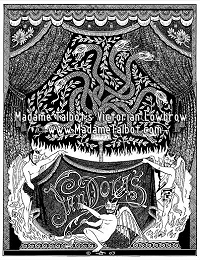 Pandora's Box Devil and Snake Dark Art Goth Poster