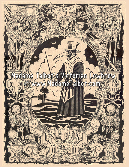 Black Death Plague Doctor Poster