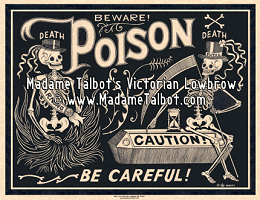 Black Poison Label Poster