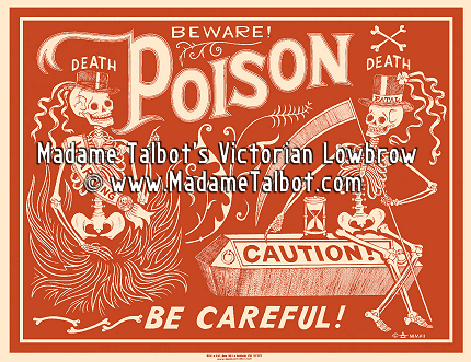 Red Poison Label