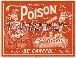 Red Poison Label Poster