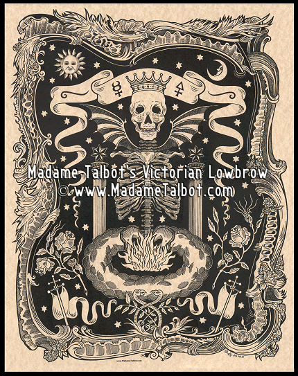 Skull Alchemy Ribcage Poster