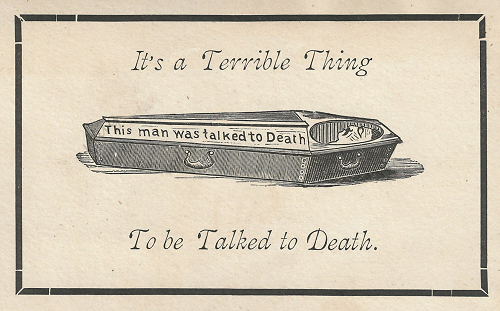 Talked to Death Card