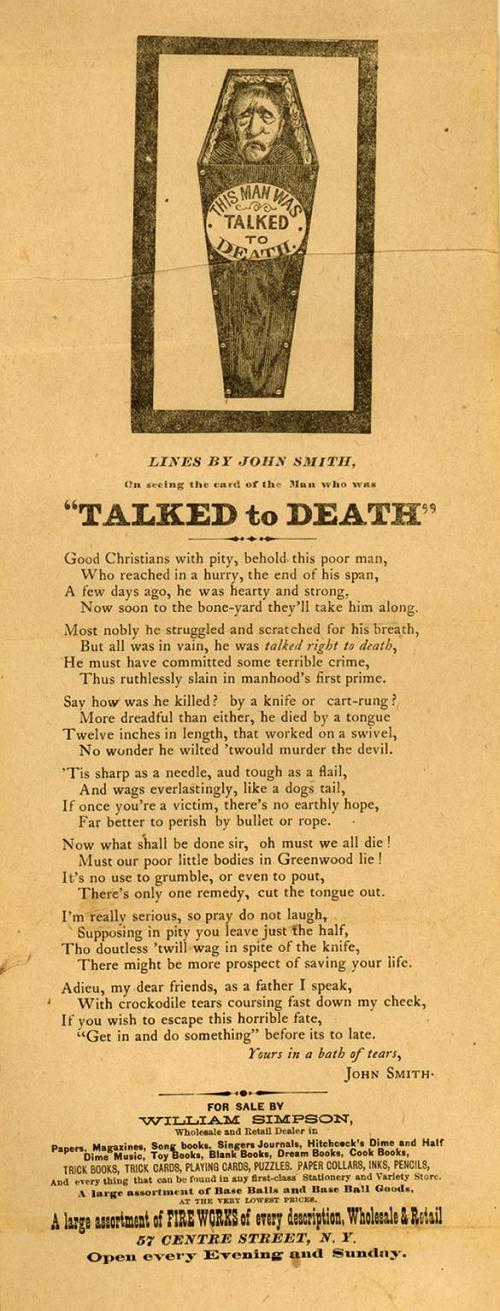 Talked to Death 1910 Flier