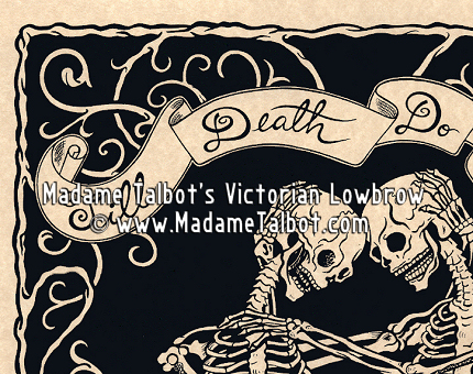Till Death Do Us Part Skeleton Lovers Mourning Poster