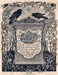 Remember Me Raven Crow Tombstone Cemetery Victorian Death Mourning Funeral Poster