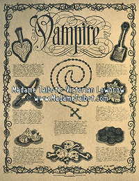 How to Kill a Vampire Dark Art Victorian Lowbrow Poster