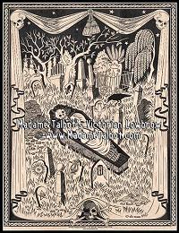 Vampire's Garden Mercy Brown Victorian Lowbrow Poster