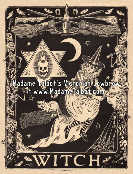 Victorian Witch Poster