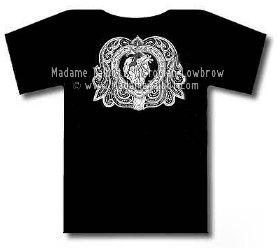 Ornate Heart Black T-Shirt