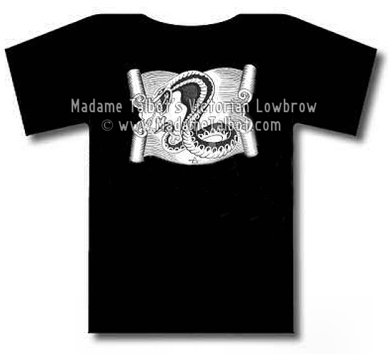 Hot Rod Tattoo Slithering Snake Black T-Shirt